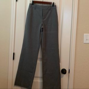 Gray Flat Front Trousers